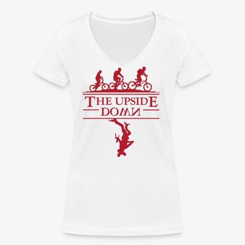 upside down - Ekologiczna koszulka damska z dekoltem w serek Stanley & Stella