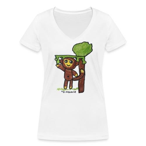 monkeywhite - Women's Organic V-Neck T-Shirt by Stanley & Stella