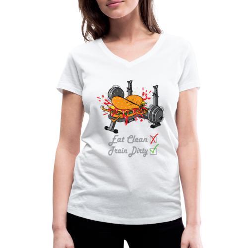 Hamburger Développé Couché Musculation - T-shirt bio col V Stanley & Stella Femme