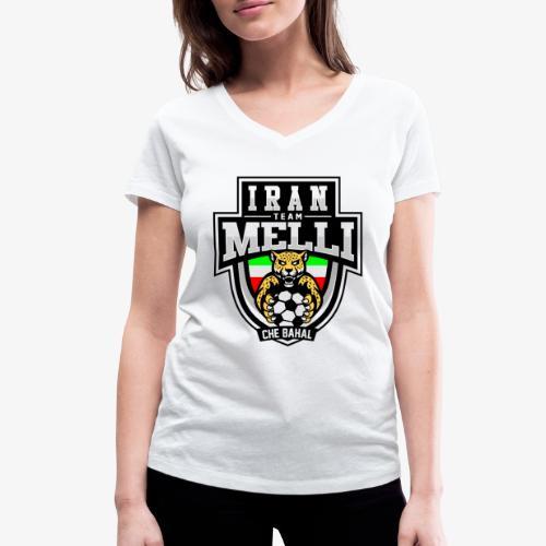 IRAN Team Melli - Frauen Bio-T-Shirt mit V-Ausschnitt von Stanley & Stella