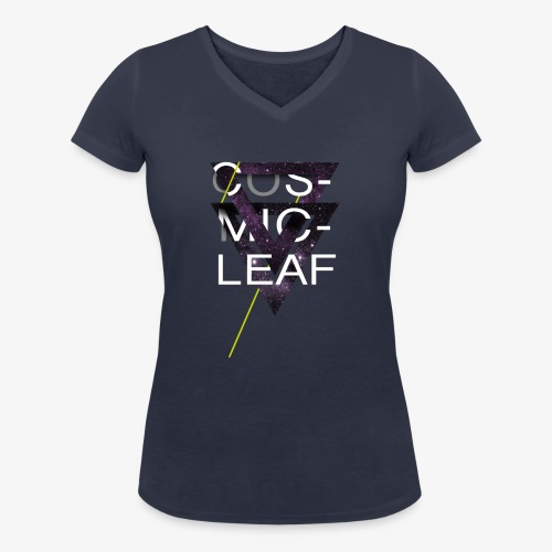 Cosmicleaf Triangles - Women's Organic V-Neck T-Shirt by Stanley & Stella