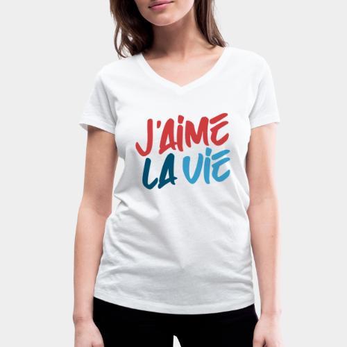 Ich liebe das Leben - T-shirt bio col V Stanley & Stella Femme