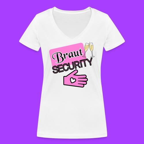 Braut SECURITY - Frauen Bio-T-Shirt mit V-Ausschnitt von Stanley & Stella