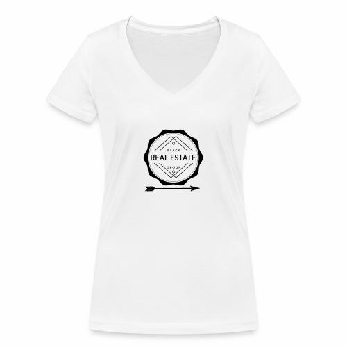 REAL ESTATE. - Camiseta ecológica mujer con cuello de pico de Stanley & Stella