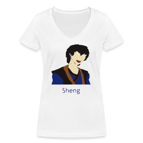 Sheng Canon - Økologisk Stanley & Stella T-shirt med V-udskæring til damer