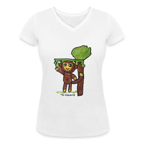monkeywhite - Women's Organic V-Neck T-Shirt by Stanley & Stella