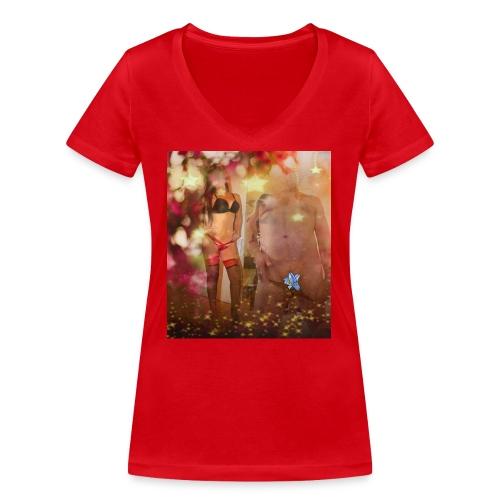 herbst Sinfonie - Frauen Bio-T-Shirt mit V-Ausschnitt von Stanley & Stella