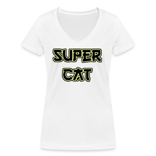 Super Cat - Frauen Bio-T-Shirt mit V-Ausschnitt von Stanley & Stella