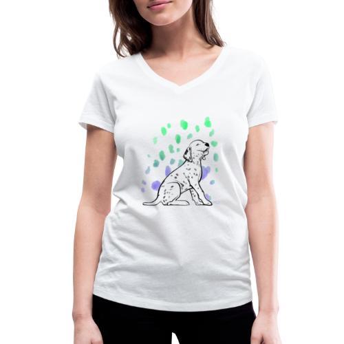 Dalmatiner Welpe - Frauen Bio-T-Shirt mit V-Ausschnitt von Stanley & Stella