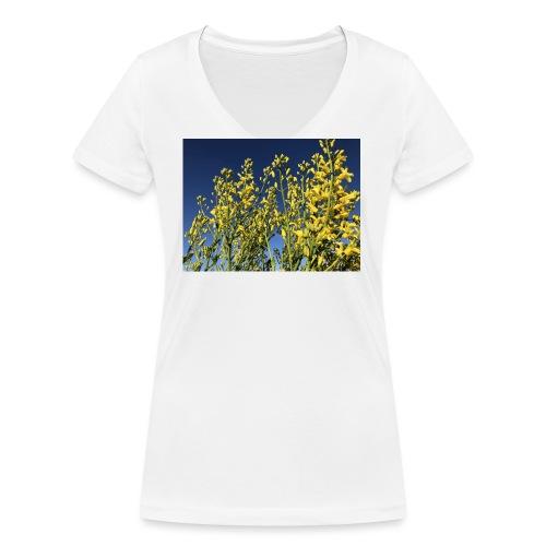 Green Cabbage in the Sky - Økologisk Stanley & Stella T-shirt med V-udskæring til damer