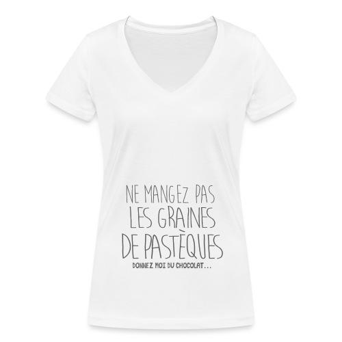 Tshirt Pour Femme Enceinte - T-shirt bio col V Stanley & Stella Femme
