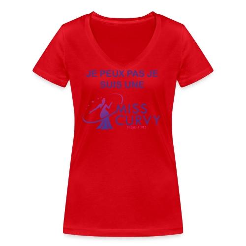 MISS CURVY Je peux pas - T-shirt bio col V Stanley & Stella Femme