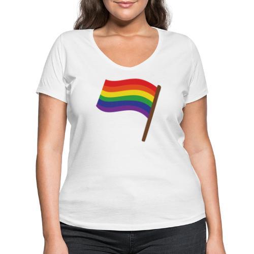 Regenbogenfahne | Geschenk Idee | LGBT - Frauen Bio-T-Shirt mit V-Ausschnitt von Stanley & Stella