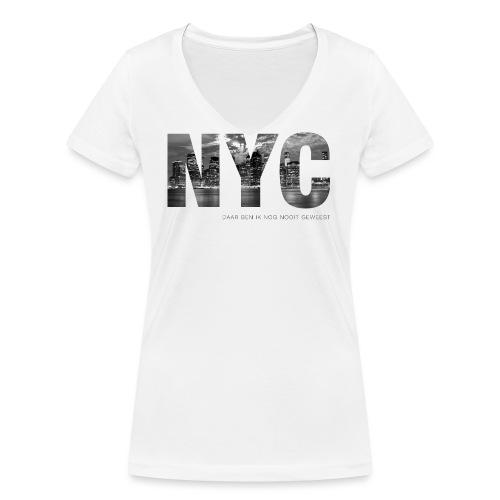 NYC - Vrouwen bio T-shirt met V-hals van Stanley & Stella