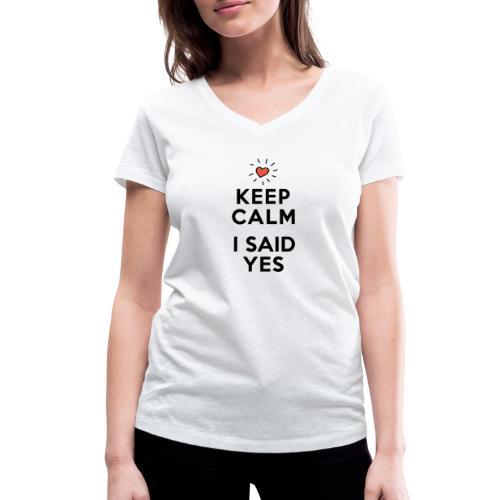 I SAID YES - Frauen Bio-T-Shirt mit V-Ausschnitt von Stanley & Stella