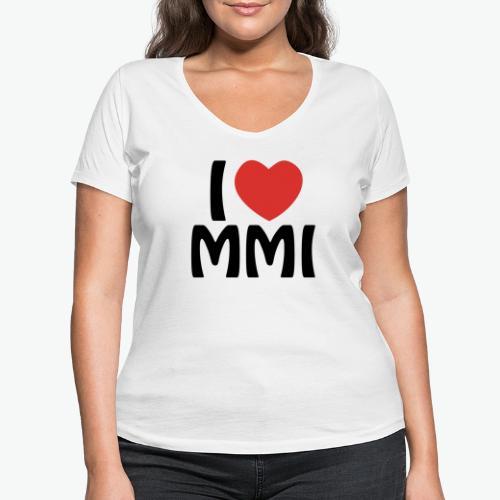 I love MMI - T-shirt bio col V Stanley & Stella Femme