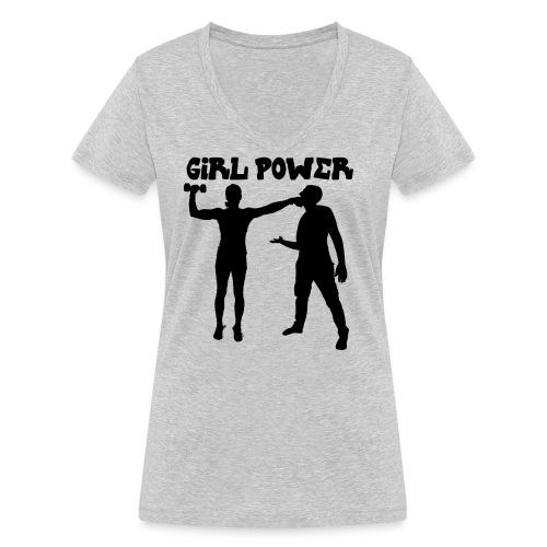 GIRL POWER hits - Camiseta ecológica mujer con cuello de pico de Stanley & Stella