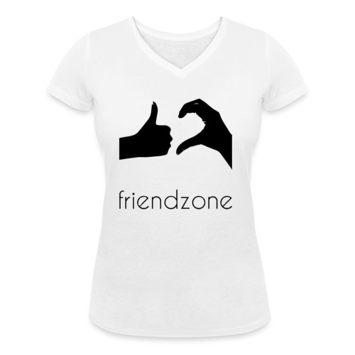 friendzone logo - Camiseta ecológica mujer con cuello de pico de Stanley & Stella