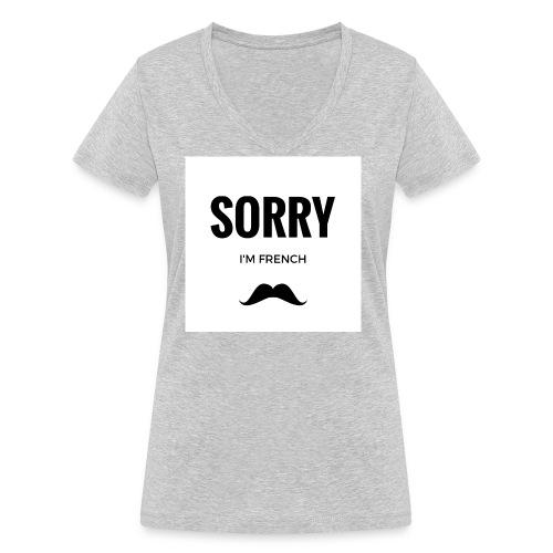 SORRY, i am french - T-shirt bio col V Stanley & Stella Femme