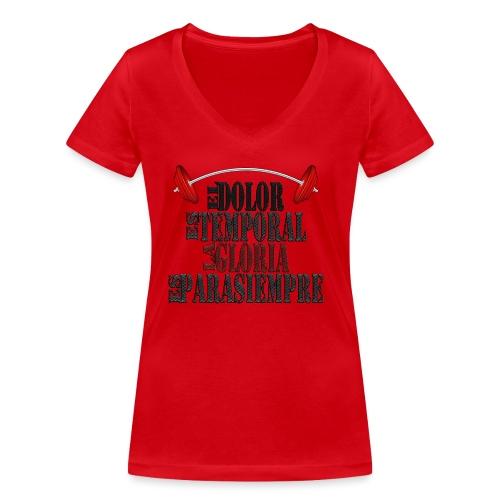 GYM - DOLOR TEMPORAL - Camiseta ecológica mujer con cuello de pico de Stanley & Stella