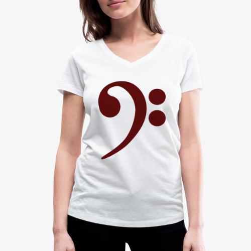 Bass-Key-4 - Frauen Bio-T-Shirt mit V-Ausschnitt von Stanley & Stella
