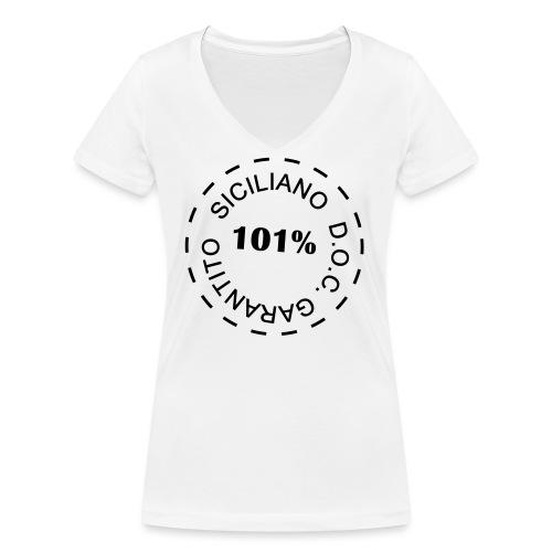siciliano doc - T-shirt ecologica da donna con scollo a V di Stanley & Stella