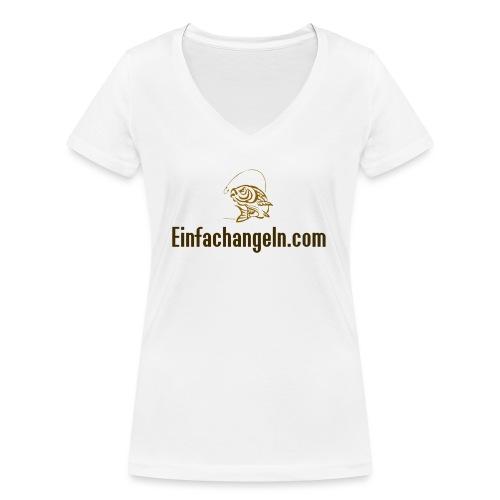 Einfachangeln Teamshirt - Frauen Bio-T-Shirt mit V-Ausschnitt von Stanley & Stella