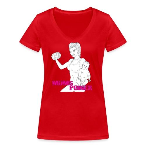MUMS POWER - Camiseta ecológica mujer con cuello de pico de Stanley & Stella