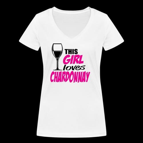 Chardonnay - T-shirt bio col V Stanley & Stella Femme