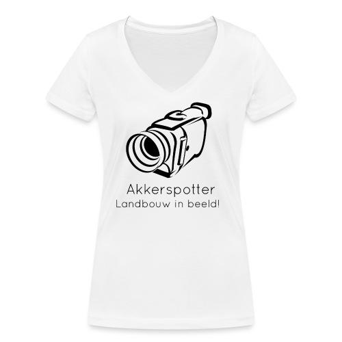 Logo akkerspotter - Vrouwen bio T-shirt met V-hals van Stanley & Stella