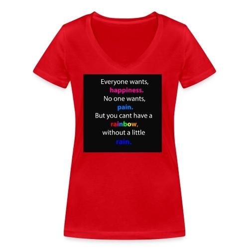 Everyone wants, happiness - Frauen Bio-T-Shirt mit V-Ausschnitt von Stanley & Stella