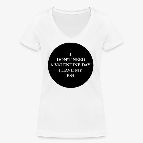 Valentine Day - Love videogame - T-shirt ecologica da donna con scollo a V di Stanley & Stella