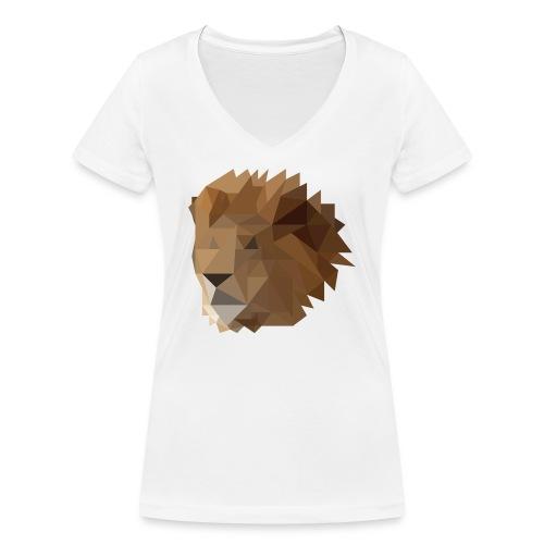 Löwe - Frauen Bio-T-Shirt mit V-Ausschnitt von Stanley & Stella