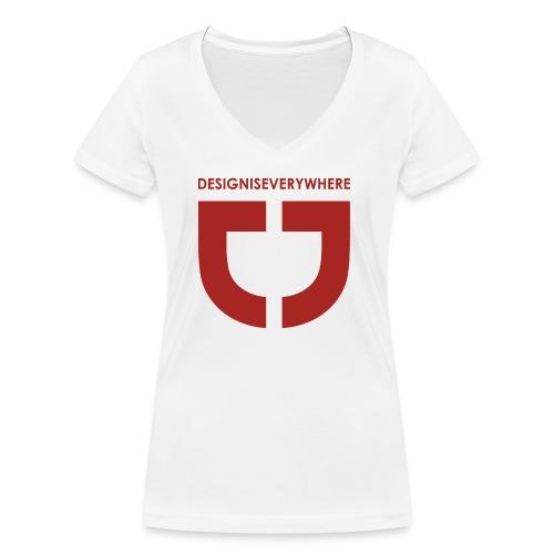RED DEE - Women's Organic V-Neck T-Shirt by Stanley & Stella