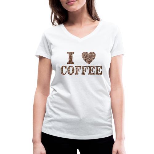 I love coffee - Frauen Bio-T-Shirt mit V-Ausschnitt von Stanley & Stella