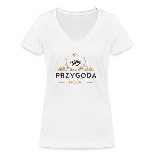 Łukasz Sobczak - Ekologiczna koszulka damska z dekoltem w serek Stanley & Stella