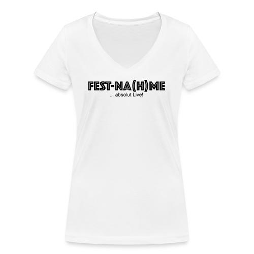Fest Nahme Brust Verein - Frauen Bio-T-Shirt mit V-Ausschnitt von Stanley & Stella