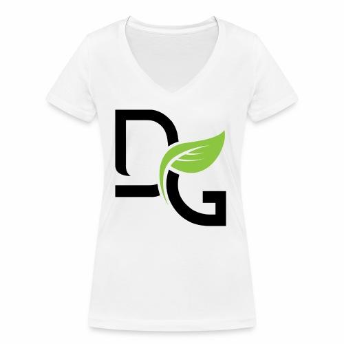 DrGreen Logo Symbol schwarz grün - Frauen Bio-T-Shirt mit V-Ausschnitt von Stanley & Stella