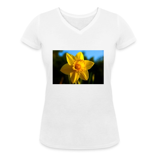 daffodil - Women's Organic V-Neck T-Shirt by Stanley & Stella