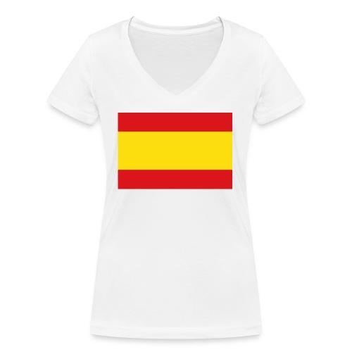 vlag van spanje - Vrouwen bio T-shirt met V-hals van Stanley & Stella