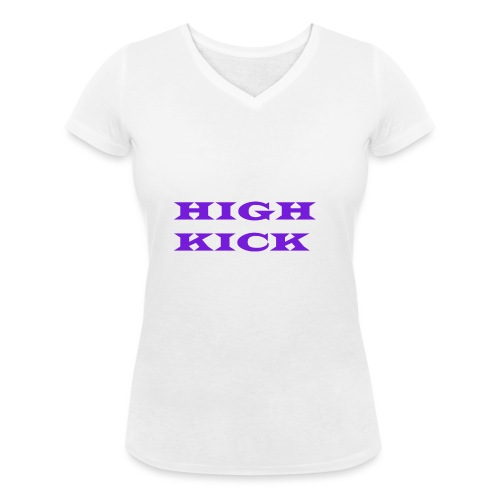 HIGH KICK HOODIE [LIMITED EDITION] - Women's Organic V-Neck T-Shirt by Stanley & Stella