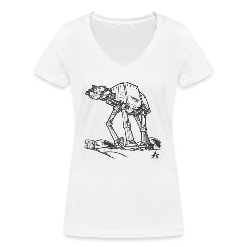 AT AT Walker ligne d'esquisse - T-shirt bio col V Stanley & Stella Femme