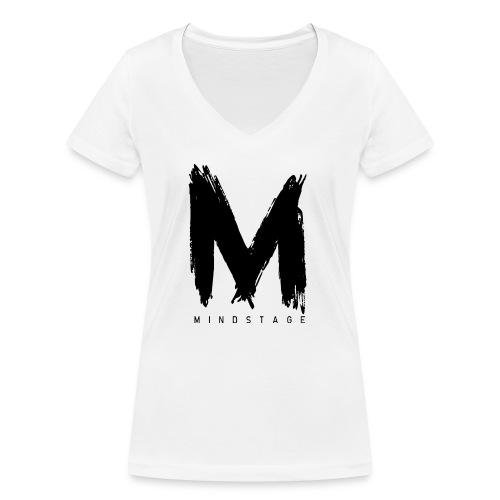 Logo Schwarz - Frauen Bio-T-Shirt mit V-Ausschnitt von Stanley & Stella