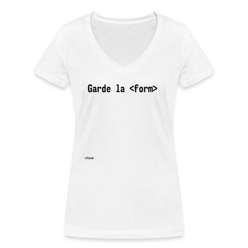 Design_dev_blague - T-shirt bio col V Stanley & Stella Femme