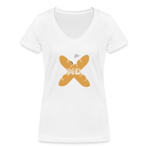 JEG ELSKER BAGUETTE! - Økologisk Stanley & Stella T-shirt med V-udskæring til damer