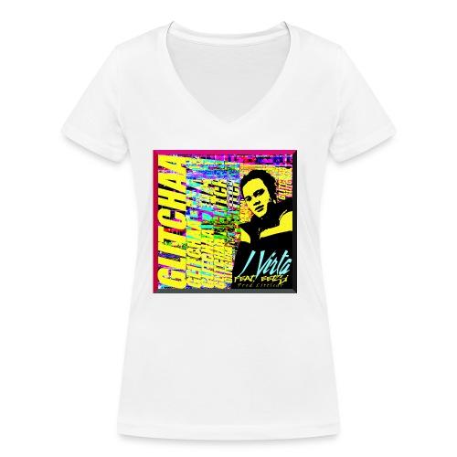 Glitchaa - Stanley & Stellan naisten v-aukkoinen luomu-T-paita