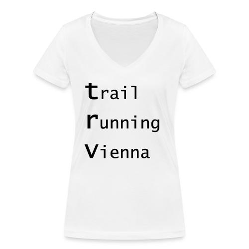 TRV Black 3zeilig - Frauen Bio-T-Shirt mit V-Ausschnitt von Stanley & Stella