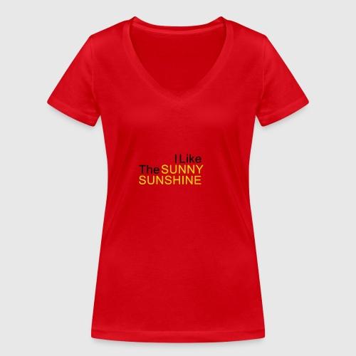Sunny Sunshine... - Vrouwen bio T-shirt met V-hals van Stanley & Stella