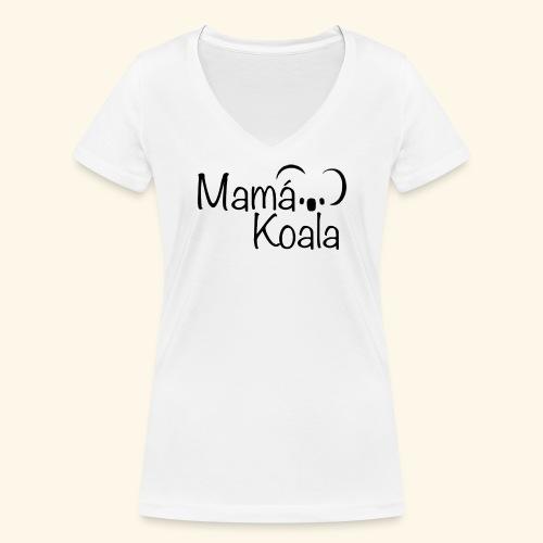 Mamá Koala - Camiseta ecológica mujer con cuello de pico de Stanley & Stella