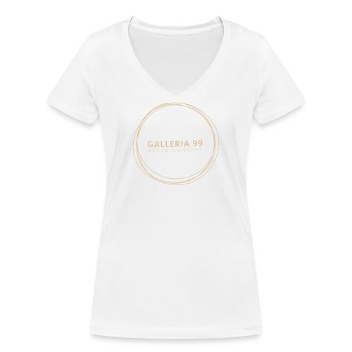 GALLERIA99 - T-shirt ecologica da donna con scollo a V di Stanley & Stella